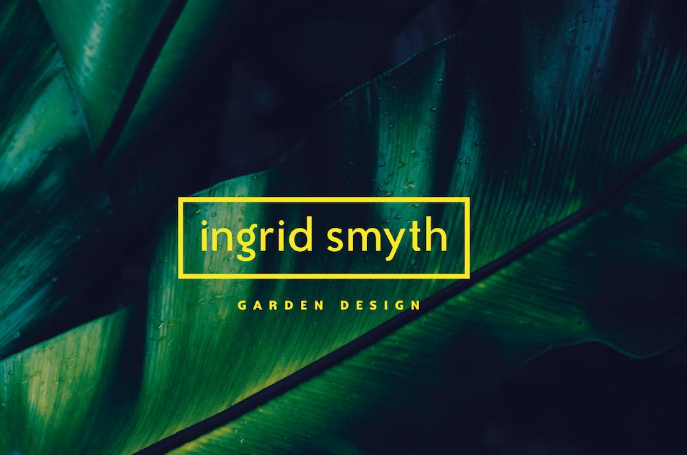 Ingrid Smyth Garden Design -brand identity work threesixty design agency kilkenny ireland